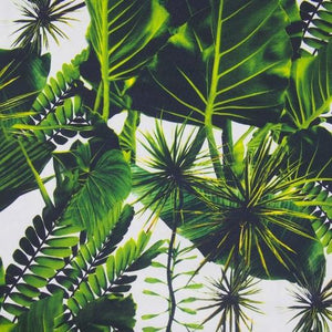 Printed Burlington - Tropical Leaf - The Fabric Counter