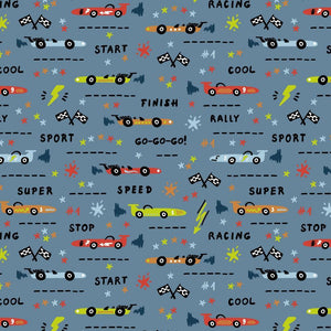 Race Cars - Cotton Print - The Fabric Counter