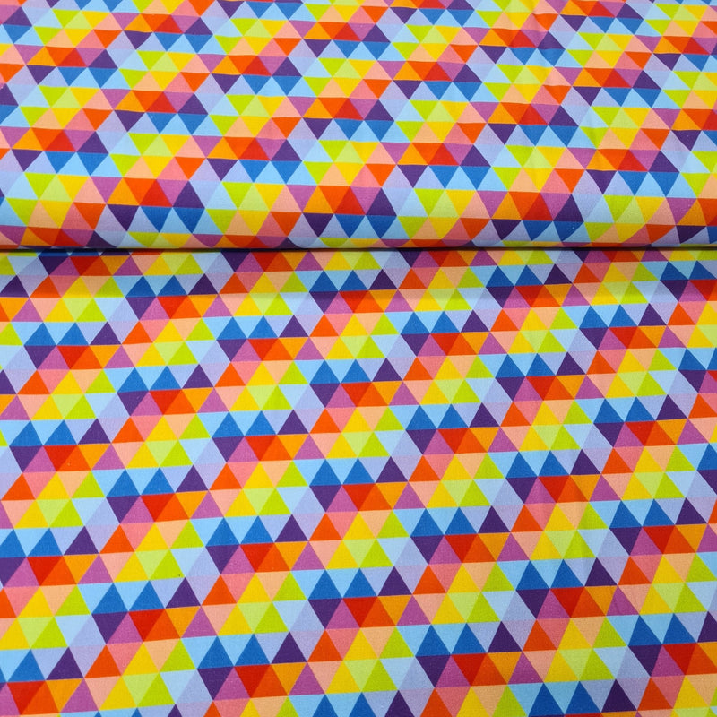 Rainbow Digital Cotton Print - The Fabric Counter