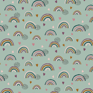 Rainbow - GOTS Organic Jersey - The Fabric Counter