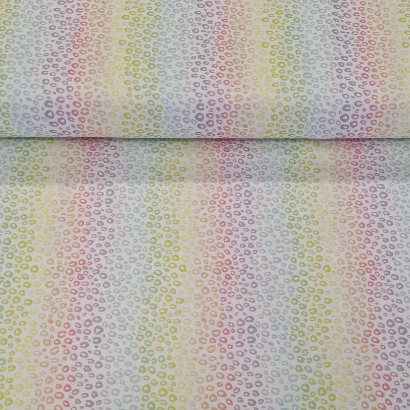 Rainbow Leopard Digital Cotton Print - The Fabric Counter