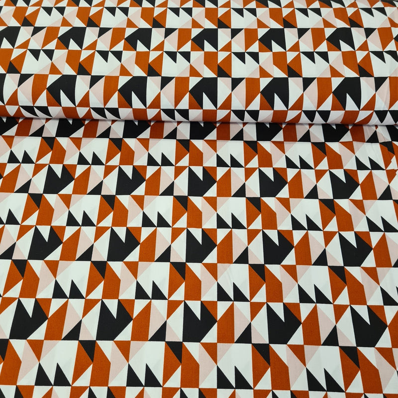 Retro Cotton Print - The Fabric Counter