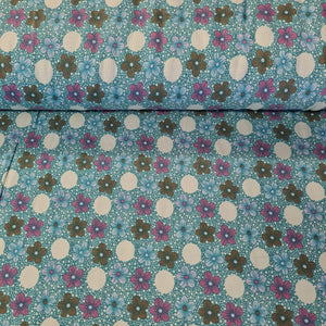 Retro Floral - Jersey - The Fabric Counter
