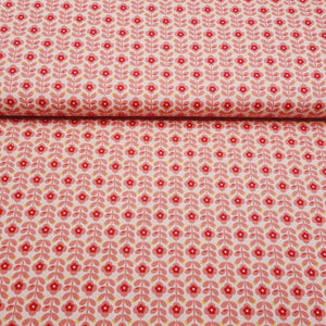 Retro Flower - Cotton Print - The Fabric Counter