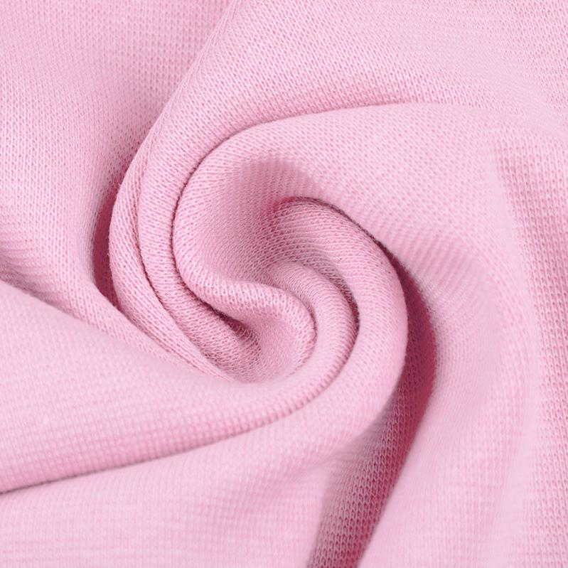 Ribbing / Cuff Fabric - Baby Pink - The Fabric Counter