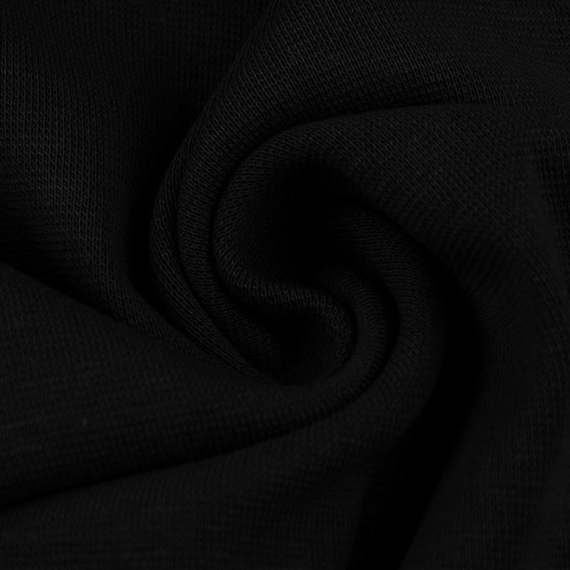 Ribbing / Cuff Fabric - Black - The Fabric Counter
