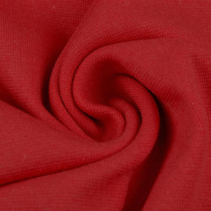 Ribbing / Cuff Fabric - Red - The Fabric Counter