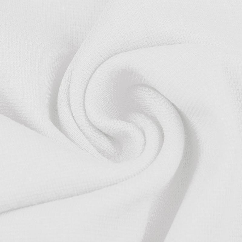 Ribbing / Cuff Fabric - White - The Fabric Counter