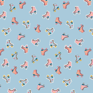 Rollerskates - Cotton Print - The Fabric Counter