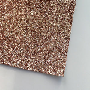 Rose Gold Premium Glitter Canvas (A4 Sheet) - The Fabric Counter