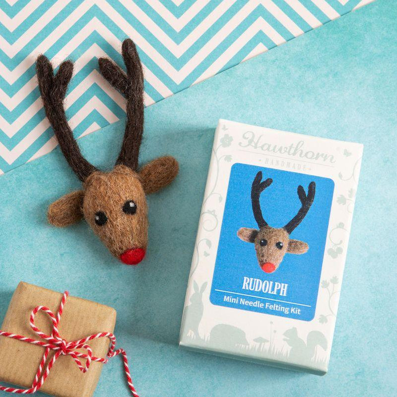 Rudolf Brooch Mini Needle Felting Kit - The Fabric Counter