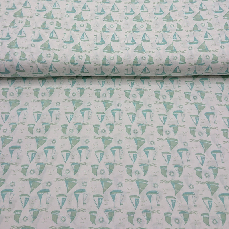 Sailboat Cotton Print - The Fabric Counter