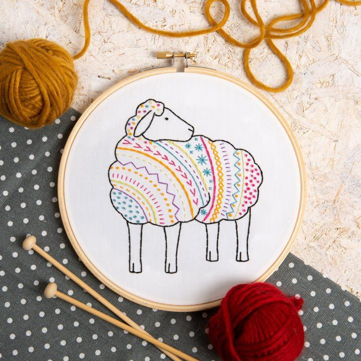 Sheep Embroidery Kit - The Fabric Counter