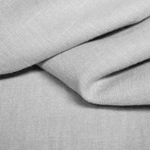 Silver 100% Linen - The Fabric Counter
