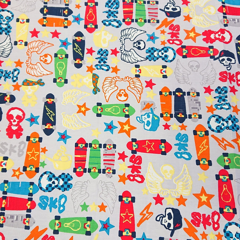 Skateboard Cotton Print - The Fabric Counter