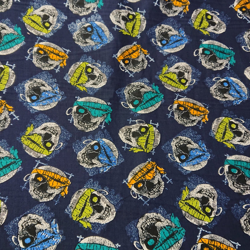 Skull Cotton Print - The Fabric Counter