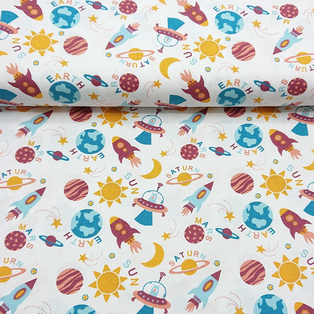 Space Cotton Print - The Fabric Counter