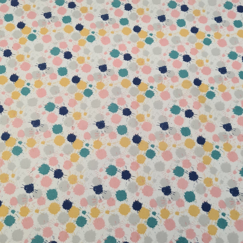 Splatter Cotton Print - The Fabric Counter