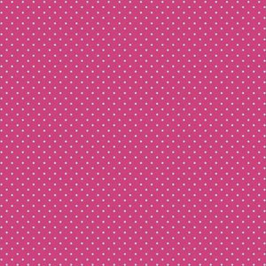 Spot Cotton Print - Cerise - The Fabric Counter
