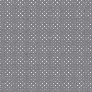 Spot Cotton Print - Grey - The Fabric Counter