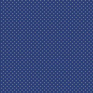 Spot Cotton Print - Royal - The Fabric Counter