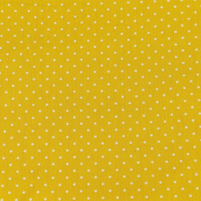 Spot Cotton Print - Yellow - The Fabric Counter
