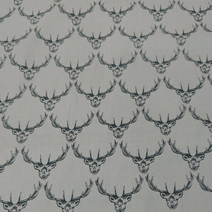 Stag Cotton Print - Grey - The Fabric Counter