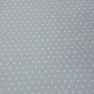 Star Cotton Print - Baby Blue - The Fabric Counter