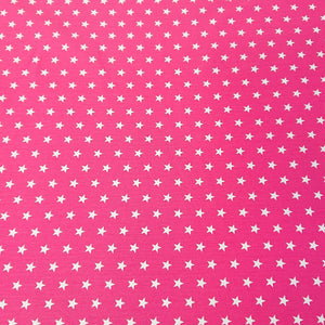 Star Cotton Print - Cerise - The Fabric Counter