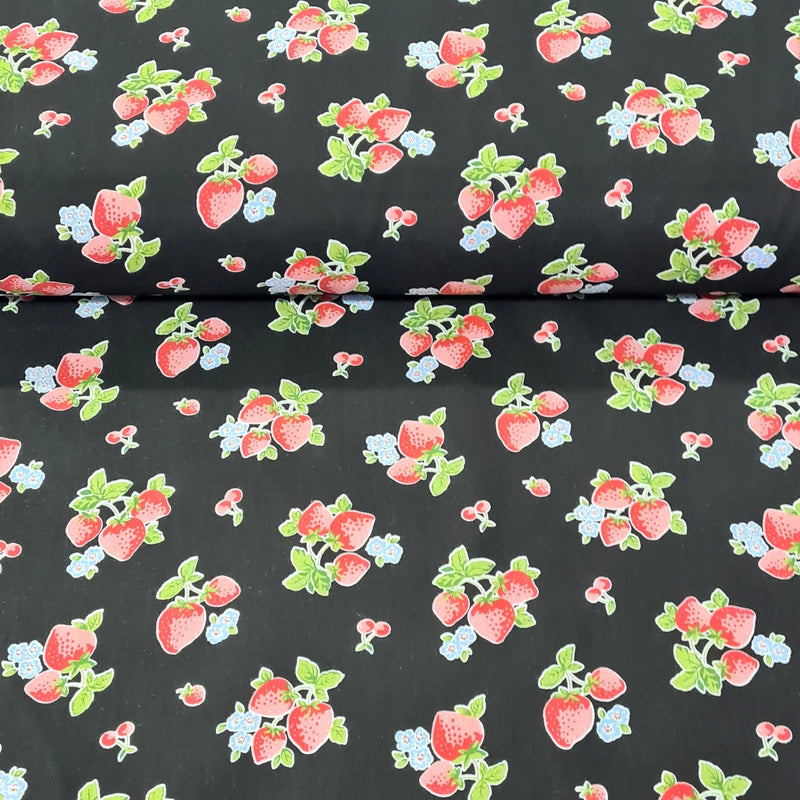Strawberry Polycotton - The Fabric Counter