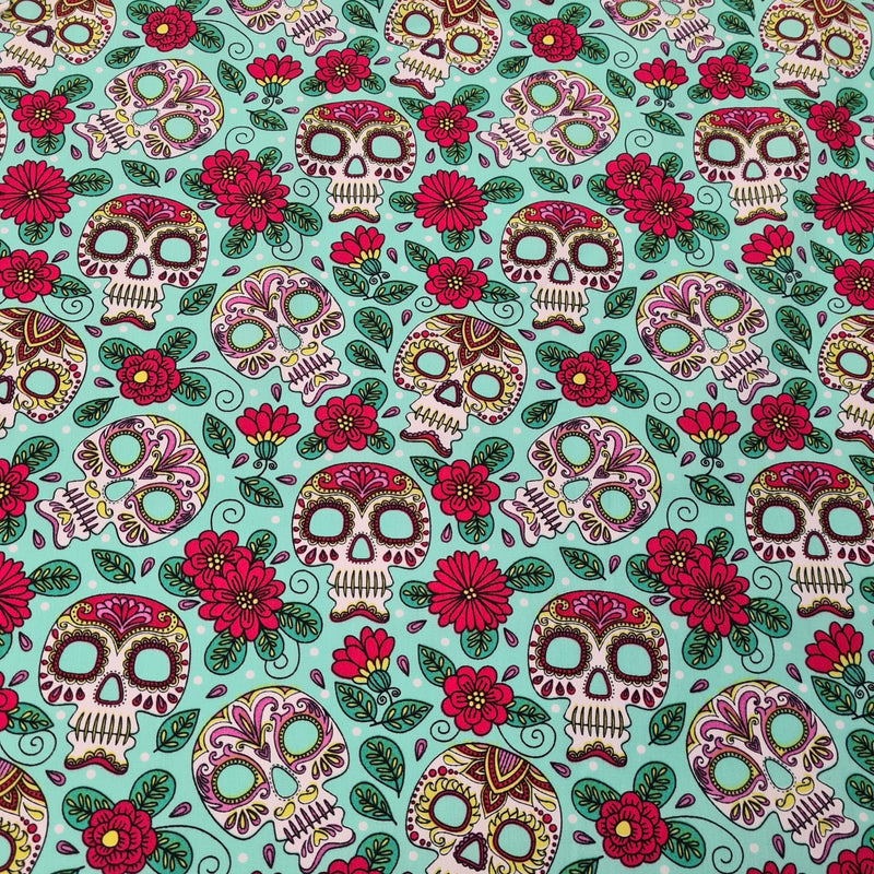 Sugar Skull Cotton Print - The Fabric Counter