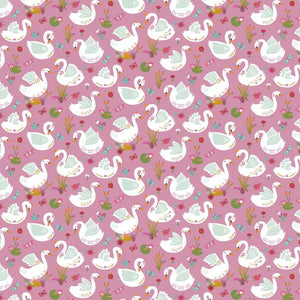 Swan - Cotton Print - The Fabric Counter