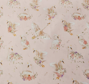 Swan Print Cotton - The Fabric Counter