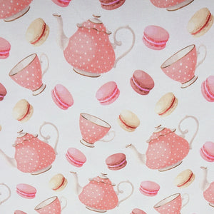 Teapot - Printed Jersey - The Fabric Counter