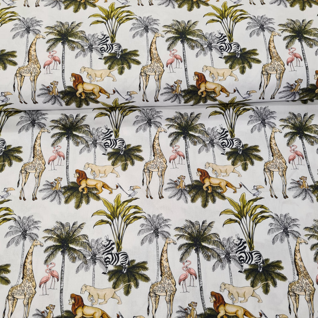 The Lion King Digital Cotton Print - The Fabric Counter