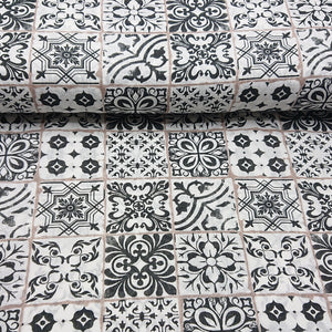 Tile Print Cotton - The Fabric Counter