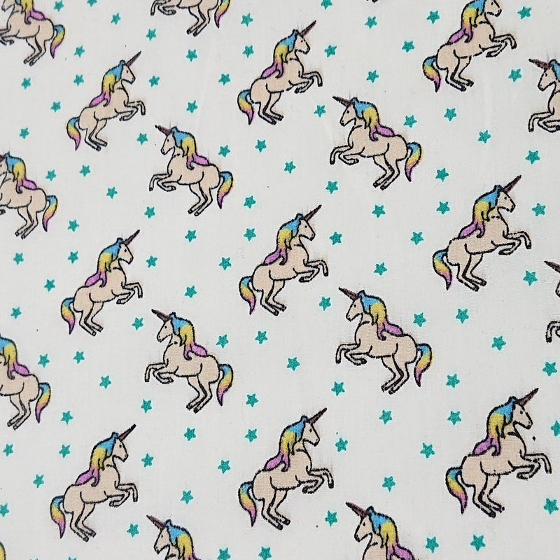 Unicorn Polycotton - The Fabric Counter