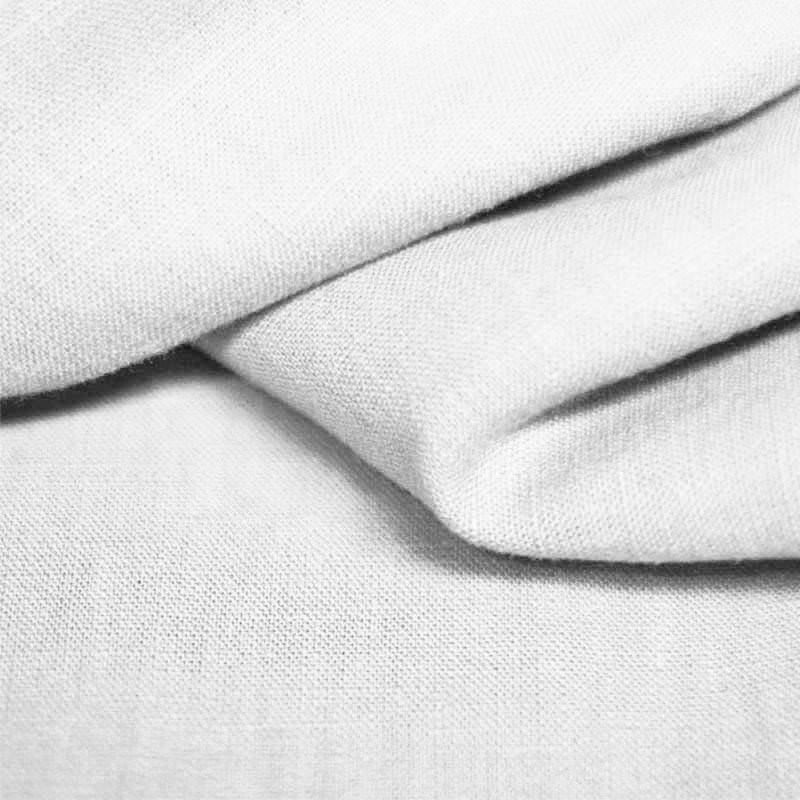 White 100% Linen - The Fabric Counter
