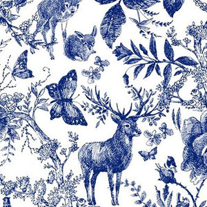Wildlife Ink Digital Cotton Print - The Fabric Counter