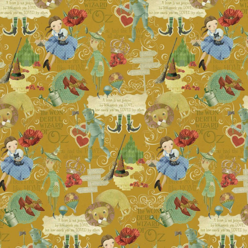 Wizard of Oz Print Cotton - The Fabric Counter