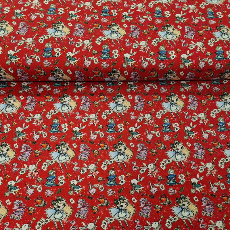 Wonderland Digital Cotton Print - The Fabric Counter