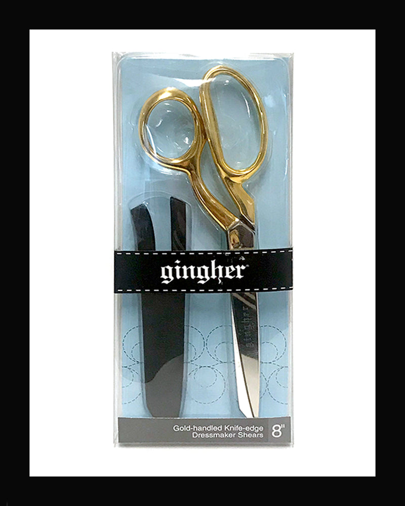 Knife Edge Gold Dressmaker 8""