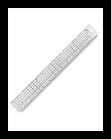 Clear Ruler with Steel Edge