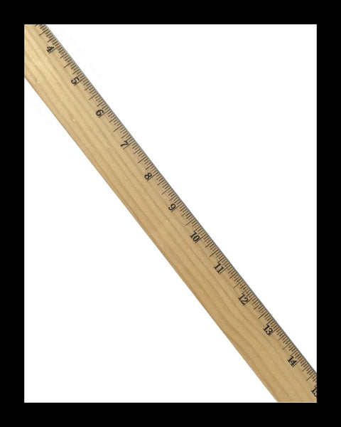 Wooden Ruler with Metal Edge