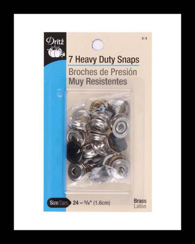 Heavy Duty Snaps Black