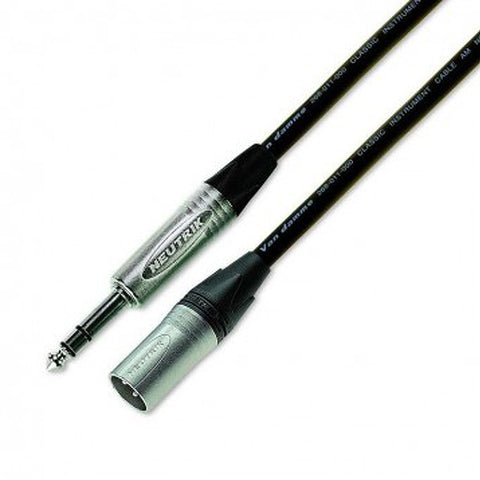 3M Stereo Jack to Male XLR Cable with Neutrik Connectors