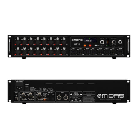 Midas DL16 Digital Stage Box with AES50 connectivity