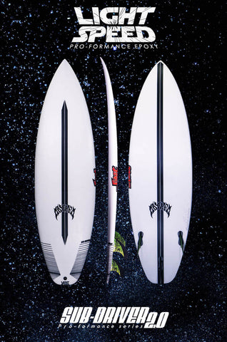LOST SUB DRIVER 2.0 LIGHTSPEED 5ft 10 SURFBOARD FCS 2 Standard Dims