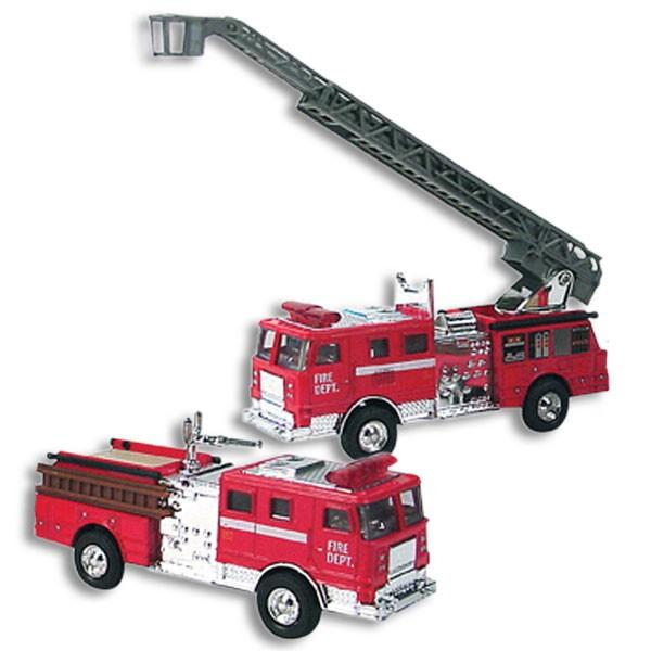 Die Cast Fire Engine Car with Ladder Pull Back - Jouets LOL Toys