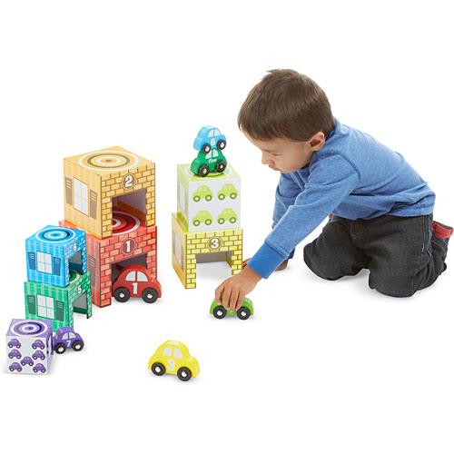Melissa & Doug Nesting and Sorting Garage and Cars - Jouets LOL Toys
